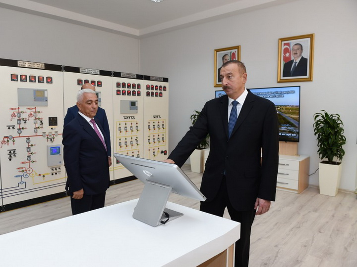 Президент Ильхам Алиев принял участие в открытии подстанции «Нефтчала» - ФОТО
