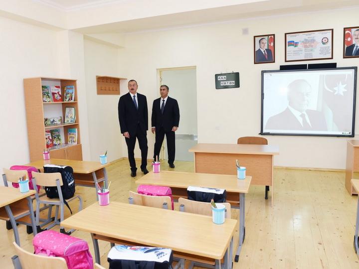 Сдано в эксплуатацию новое здание Сальянской городской полной средней школы номер 2 - ФОТО