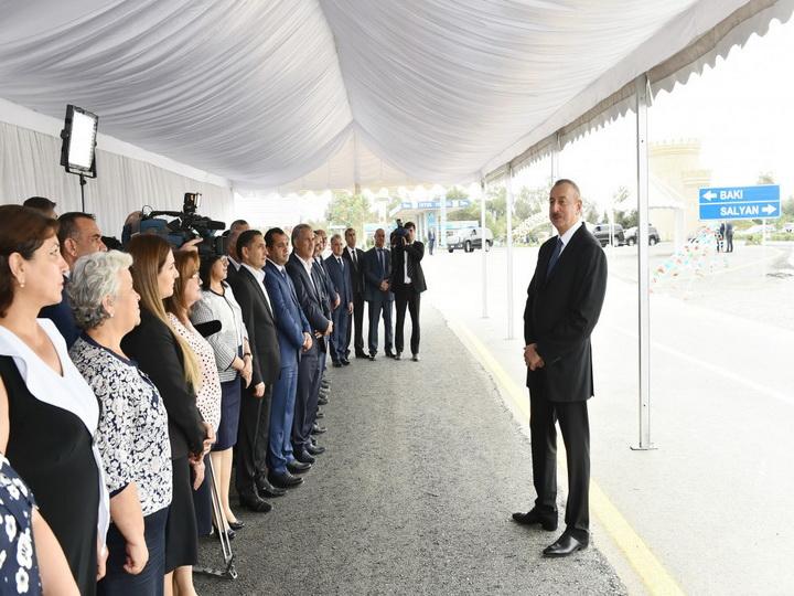 Президент Ильхам Алиев: «Дорожная инфраструктура – один из приоритетных вопросов в нашей стране» - ФОТО
