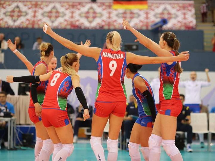Сборная Азербайджана по волейболу в полуфинале чемпионата Европы - ФОТО