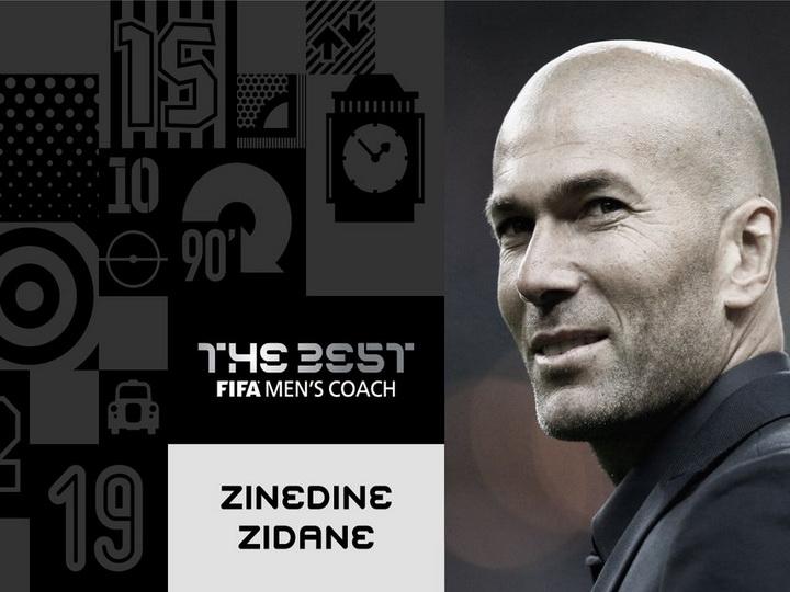 Zinəddin Zidan 2017-ci ilin ən yaxşı məşqçisi seçilib