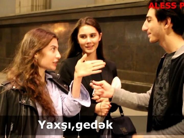 «Meymun!»: Армянка заговорила на азербайджанском на улице в Москве – ВИДЕО