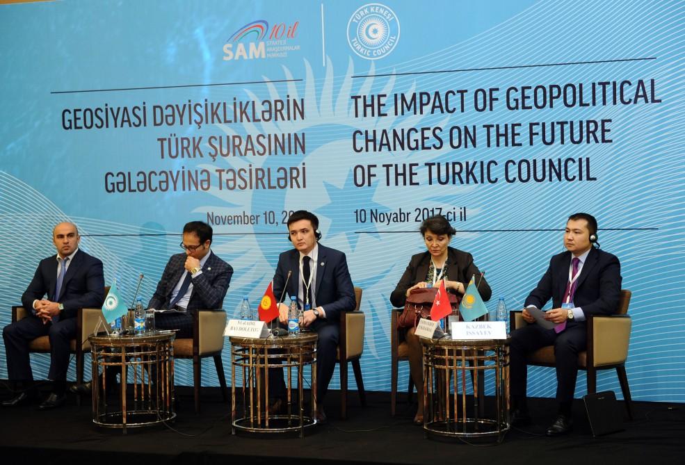 """Bakıda """"Geosiyasi dəyişikliklərin Türk Şurasının gələcəyinə təsiri"""" mövzusunda konfrans keçirilib"""