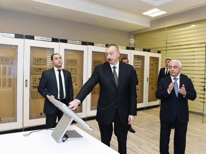 Ильхам Алиев открыл электроподстанцию Yeni Gəncə - ФОТО