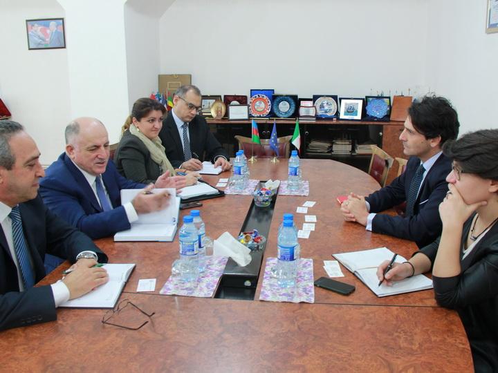 В Конфедерации предпринимателей Азербайджана обсудили развитие связей с Италией