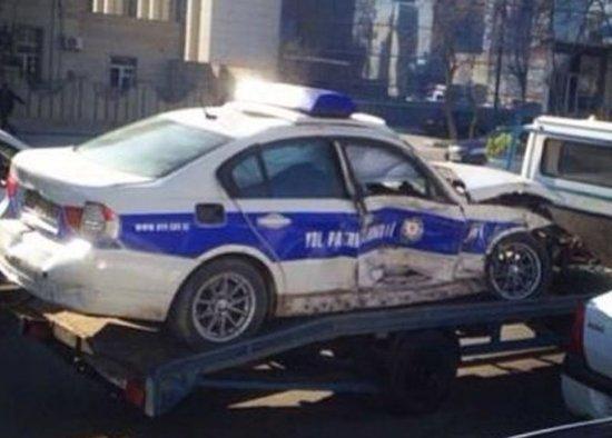 Bakıda ağır qəza: 2 polis öldü, biri yaralandı