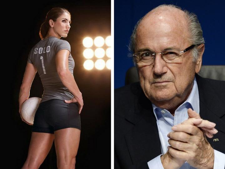 Американская футболистка обвинила вдомогательствах 81-летнего Блаттера – ФОТО