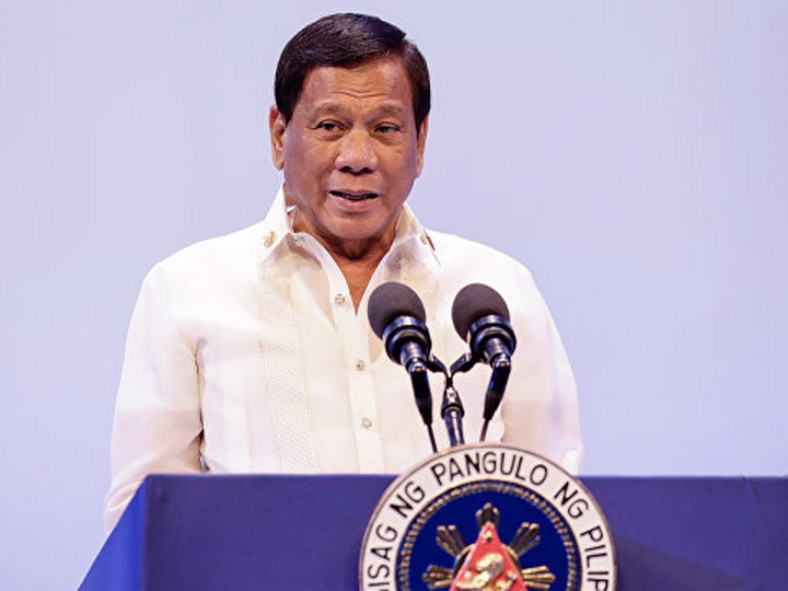Президент Филиппин Родриго Дутерте спел - ВИДЕО