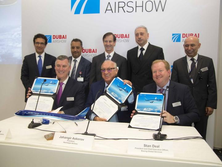 На выставке Dubai Airshow 2017 достигнут ряд ключевых договоренностей в области гражданской авиации Азербайджана - ФОТО