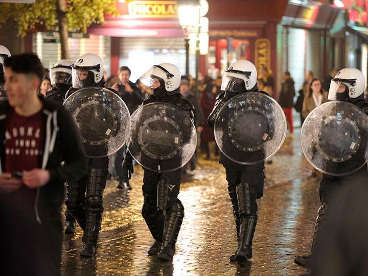 Милиция арестовала покрайней мере 16 человек — Беспорядки вБрюсселе