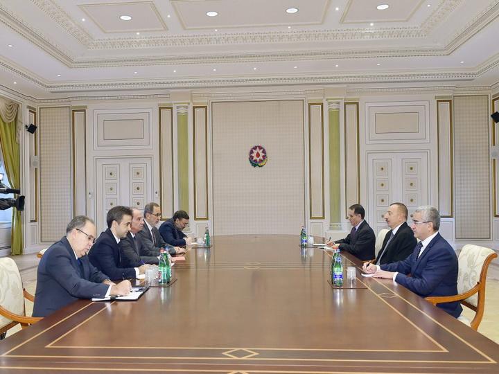 Президент Ильхам Алиев принял делегацию во главе с главой МИД Бразилии
