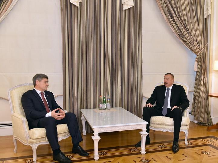 Президент Ильхам Алиев принял главу МВД Молдовы