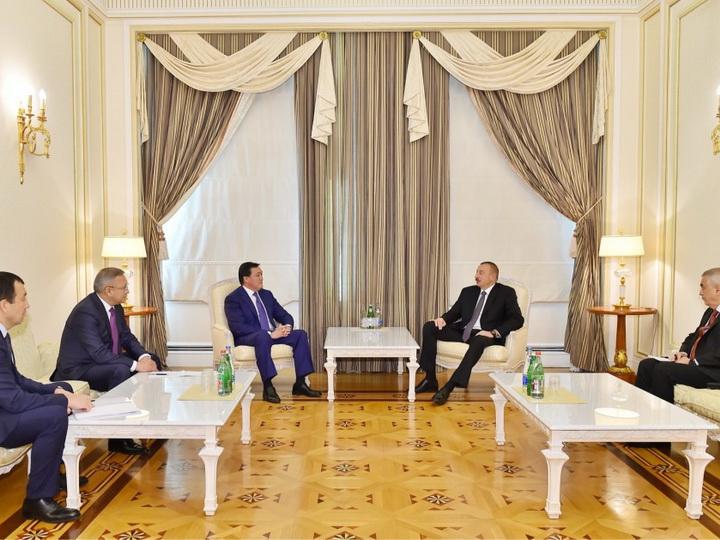 Президент Азербайджана принял первого вице-премьера Казахстана
