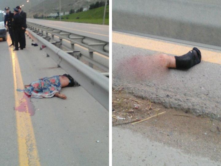 В Баку автомобиль в ДТП разорвал пешехода на части – ФОТО