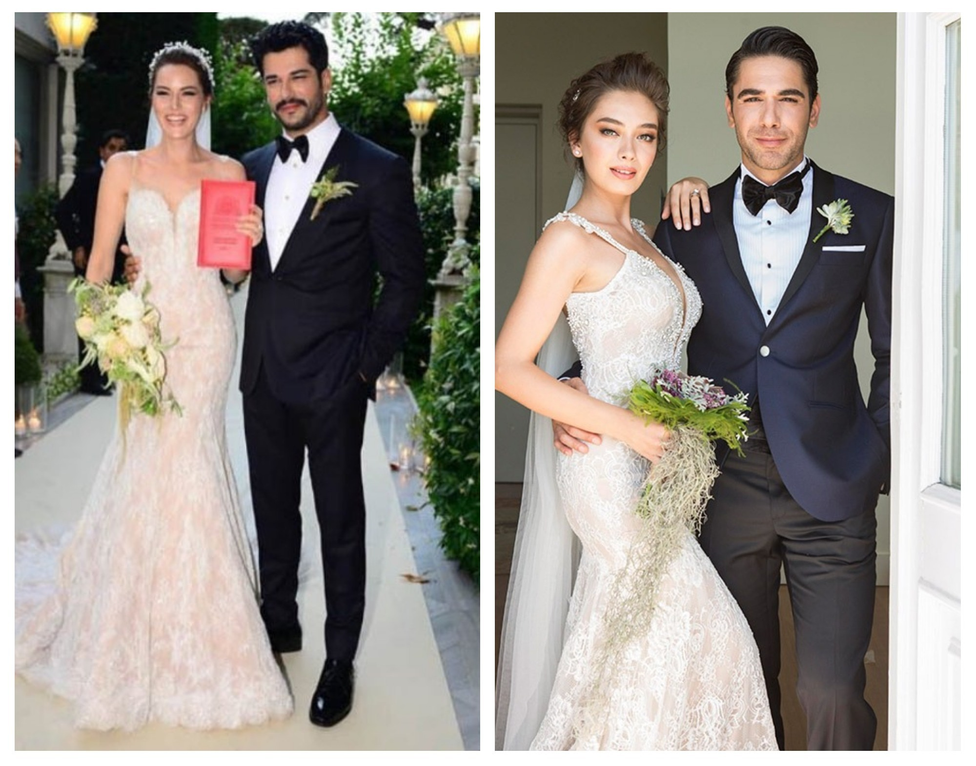 Фото со свадьбы турецкого актера бурака озчивита