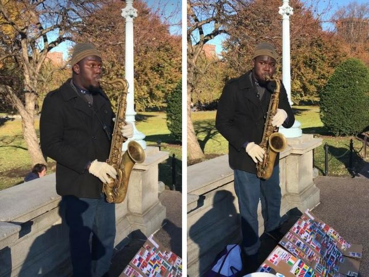 Уличный музыкант из США исполняет гимн Азербайджана – ВИДЕО