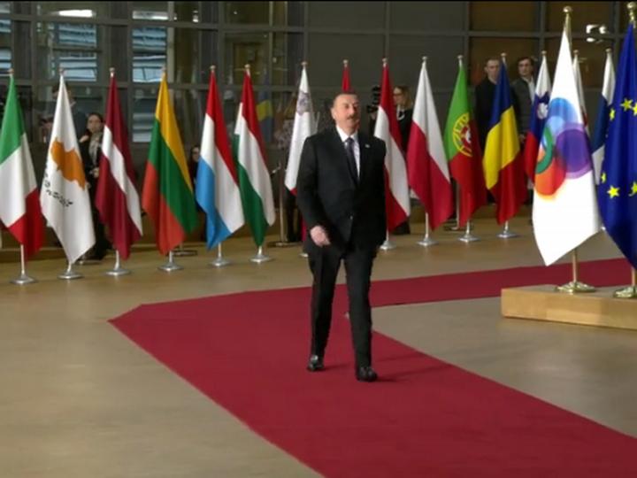 Завершился рабочий визит президента Азербайджана вБрюссель