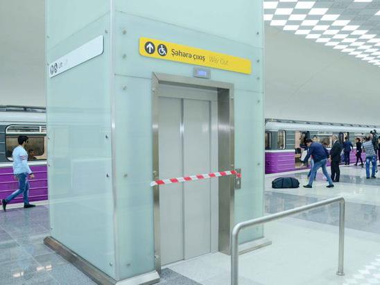 В Бакметрополитене строятся лифты для людей с ограниченными физическими возможностями