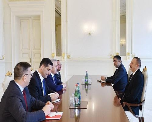 Prezident Türkiyənin nəqliyyat, dənizçilik və kommunikasiya nazirini qəbul edib - FOTO