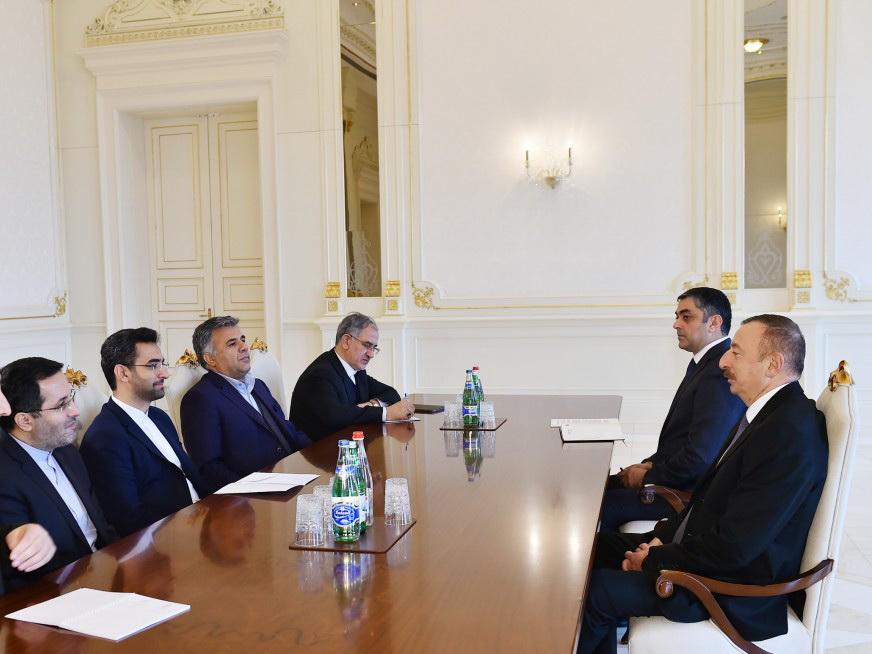 Президент Ильхам Алиев принял министра связи и информационных технологий Ирана - ФОТО