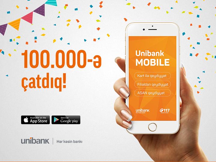 Unibank mobile istifadəçilərinin sayı 100.000-ə çatdı