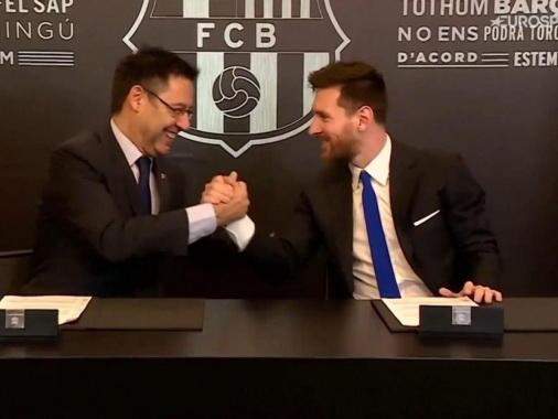 Месси будет получать огромную зарплату в «Барселоне» по новому контракту
