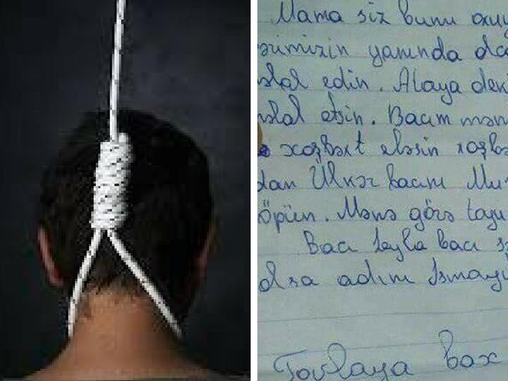 Предсмертная записка азербайджанского школьника шокировала всех: «Я буду рядом с Пророком» - ФОТО
