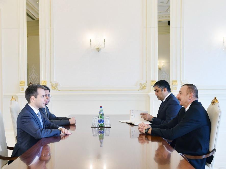 Президент Ильхам Алиев принял министра связи и массовых коммуникаций России