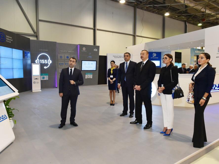 Президент Азербайджана ознакомился с выставкой Bakutel 2017 - ФОТО