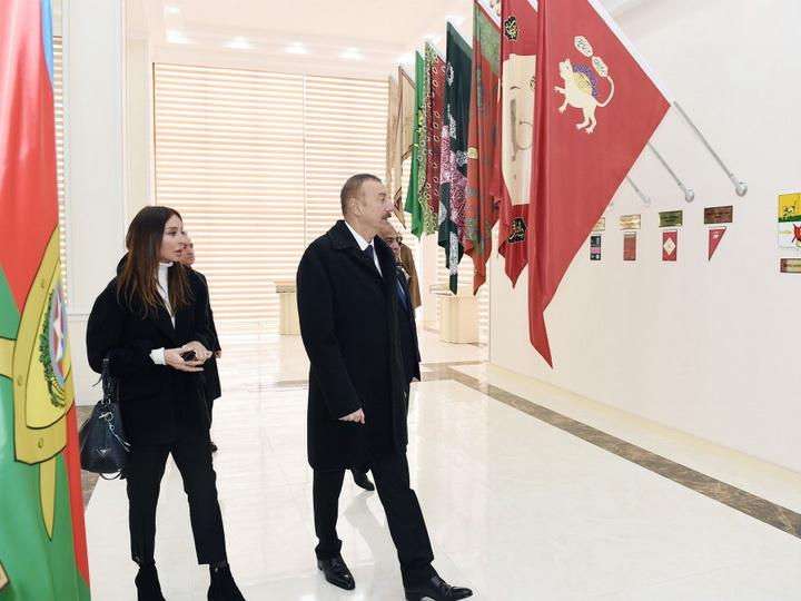 Ильхам Алиев открыл в Губе Музей флага - ФОТО