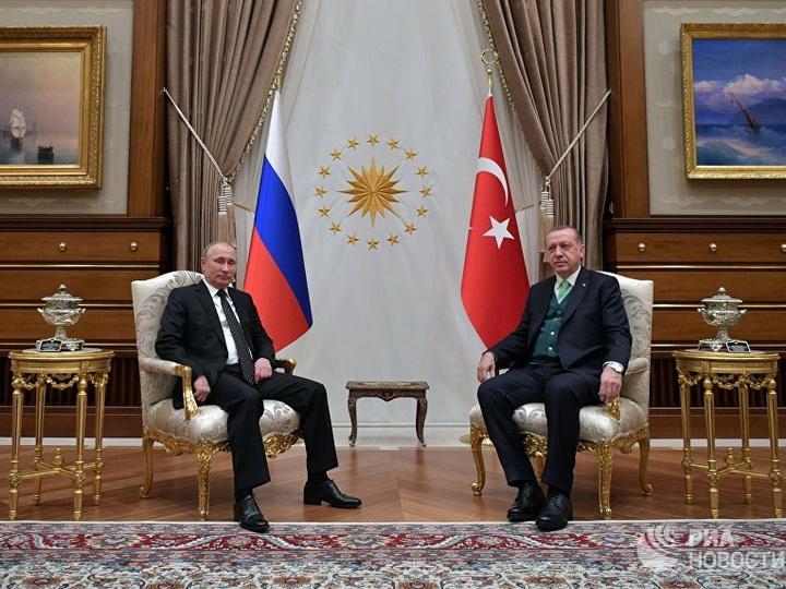 Путин обсудил сЭрдоганом либерализацию торговли России иТурции