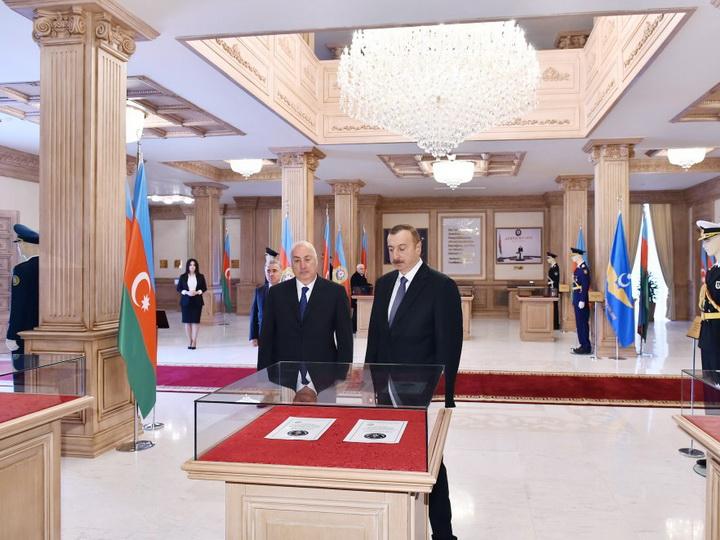 Президент Азербайджана открыл Музей флага в Сумгайыте - ФОТО
