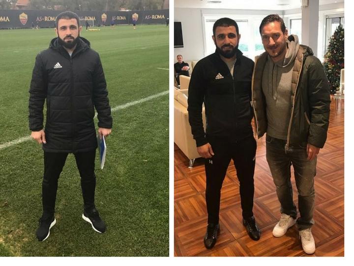 Рашад Садыхов встретился с Франческо Тотти – ФОТО