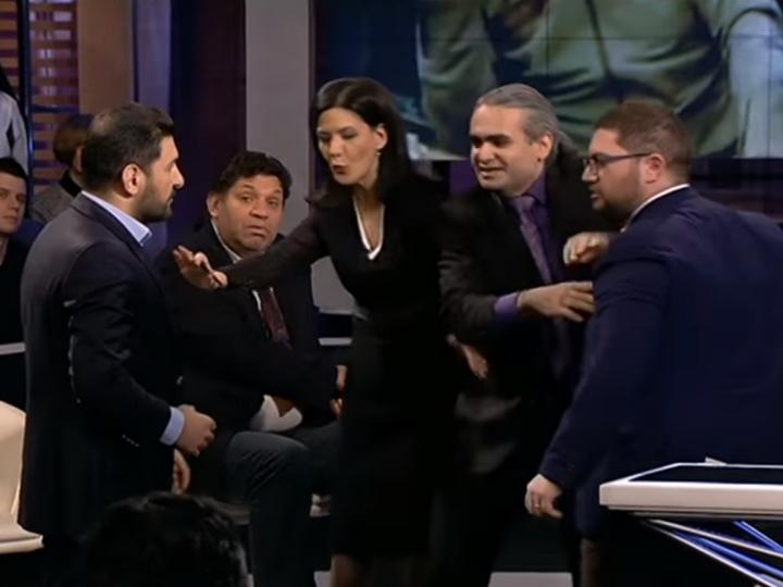 Азербайджанский и армянский эксперты разругались в прямом эфире российского телевидения - ВИДЕО