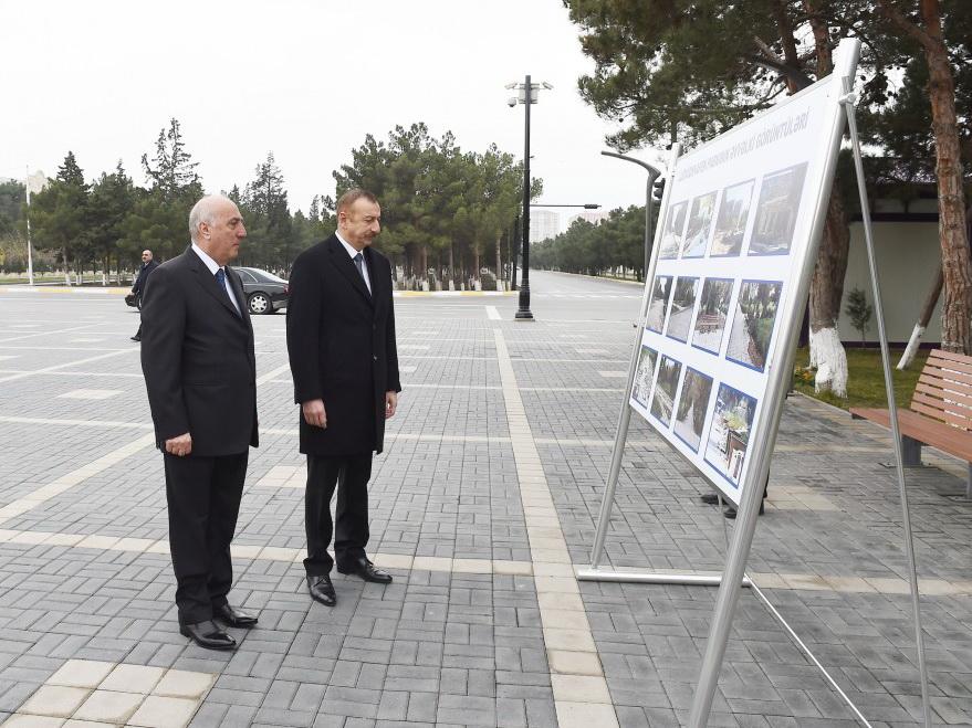Ильхам Алиев ознакомился с условиями, созданными после реконструкции в парке Людвигсхафен - ФОТО