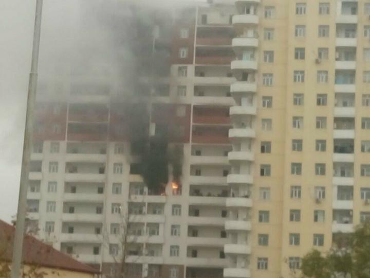 В Хырдалане пламя охватило новостройку, жильцы эвакуированы - ФОТО - ВИДЕО