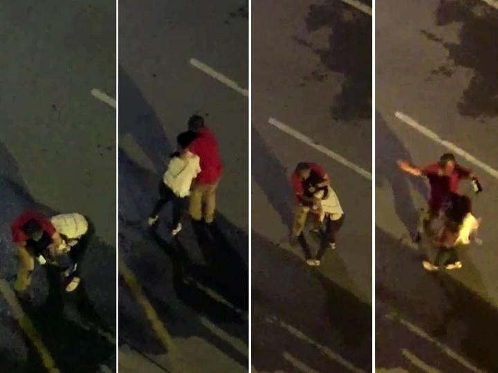 В Турции пьяный мужчина с бутылкой напал на женщину – ФОТО