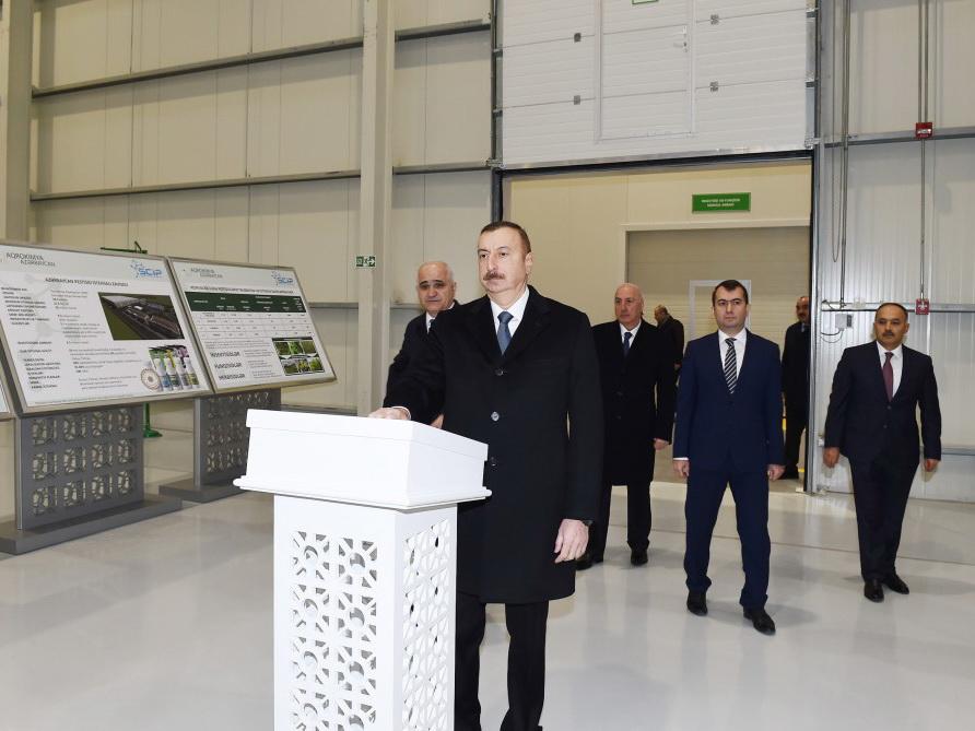Ильхам Алиев: Предприятия на территории Сумгайытского химико-промышленного парка ориентированы на импортозамещение