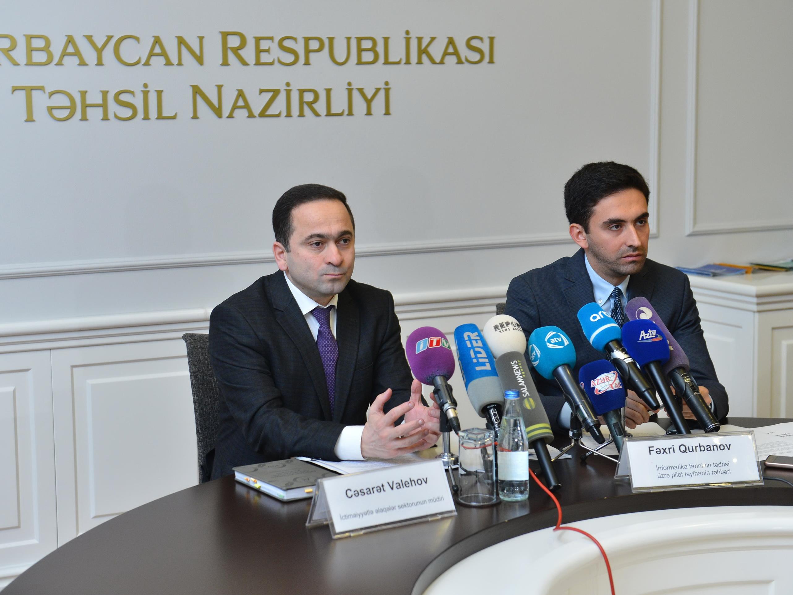 В Азербайджане стартовал пилотный проект по преподаванию школьного предмета «Информатика» - ФОТО - ВИДЕО