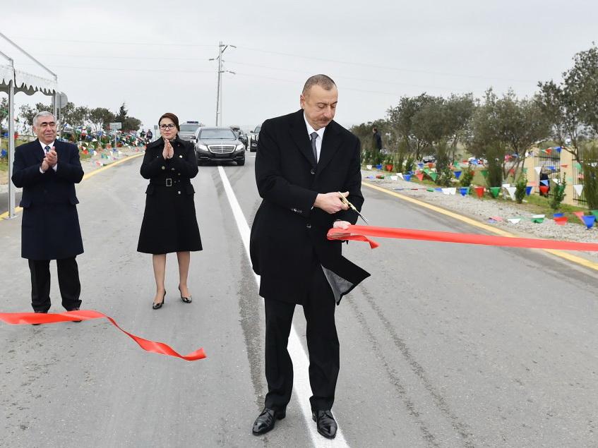 Ильхам Алиев открыл дорогу Мехдиабад-Дигях-Мамедли - ФОТО