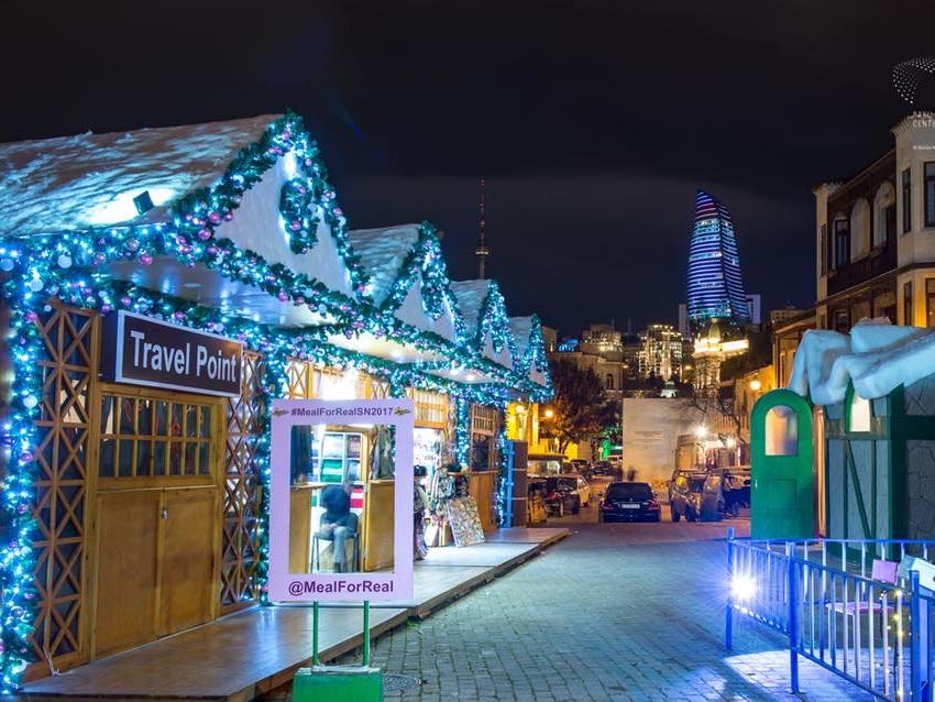Euronews: Новогоднее убранство Баку создает праздничное настроение - ВИДЕО