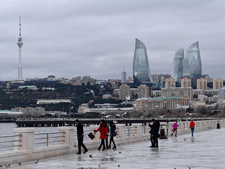 Встолице Азербайджана выпадет мокрый снег