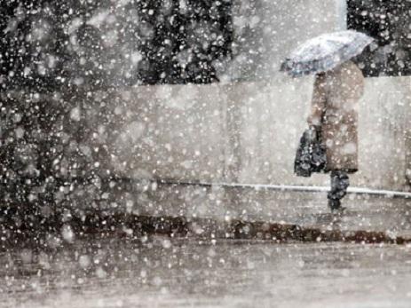 Sabahın havası - güclü külək, yağış, qar