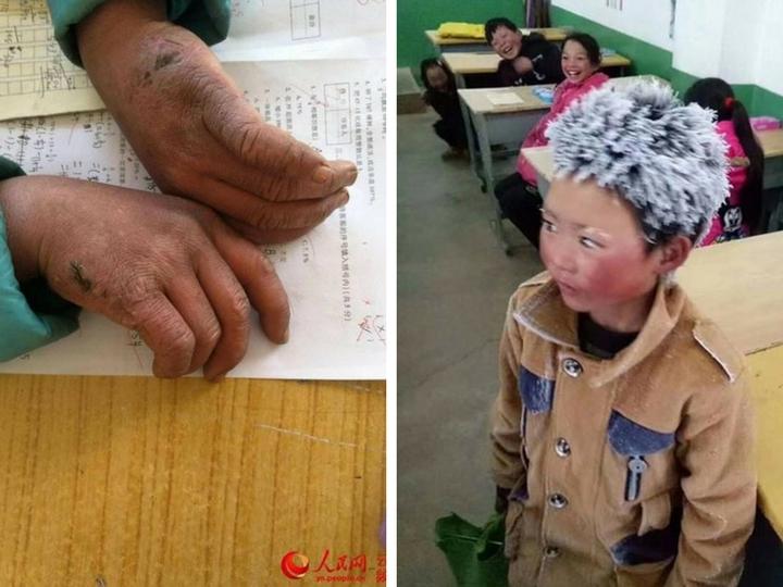 Волосы 10-летнего школьника заледенели, пока он шёл 5 км, чтобы успеть на урок - ФОТО