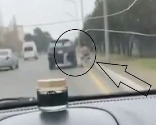 В Баку попрошайку привозят на «работу» на Lexus – ВИДЕО