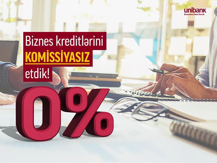 Unibank предлагает бизнес-кредиты с 0% комиссии