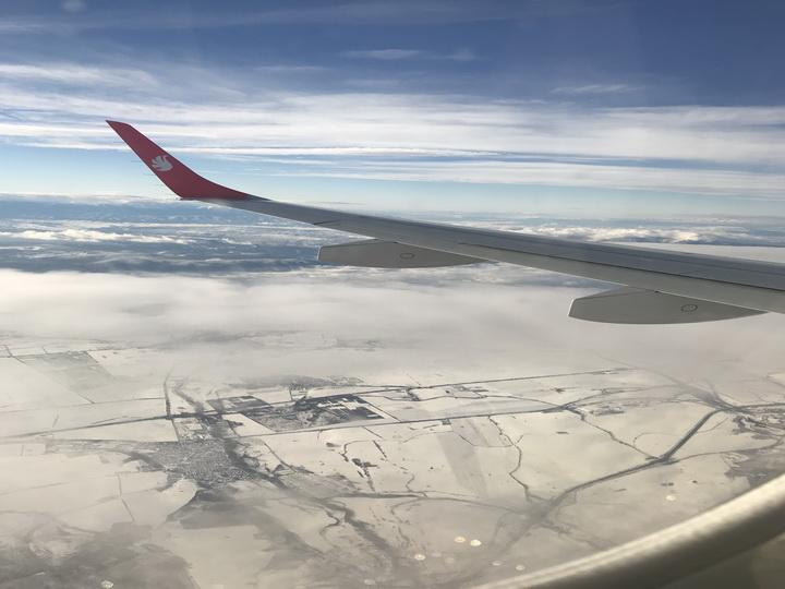 2221 километр в облаках: Восхитительные виды во время полета из Баку в Софию - ВИДЕО