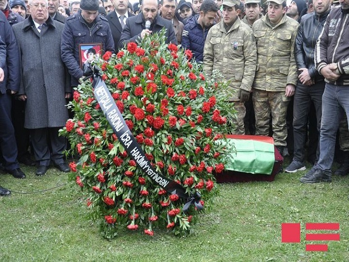 Azərbaycan Ordusunun şəhid olan əsgəri dəfn edilib – FOTO