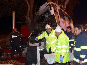 В Турции водитель автобуса совершил маневр, чтобы не сбить собаку, есть погибшие - ФОТО