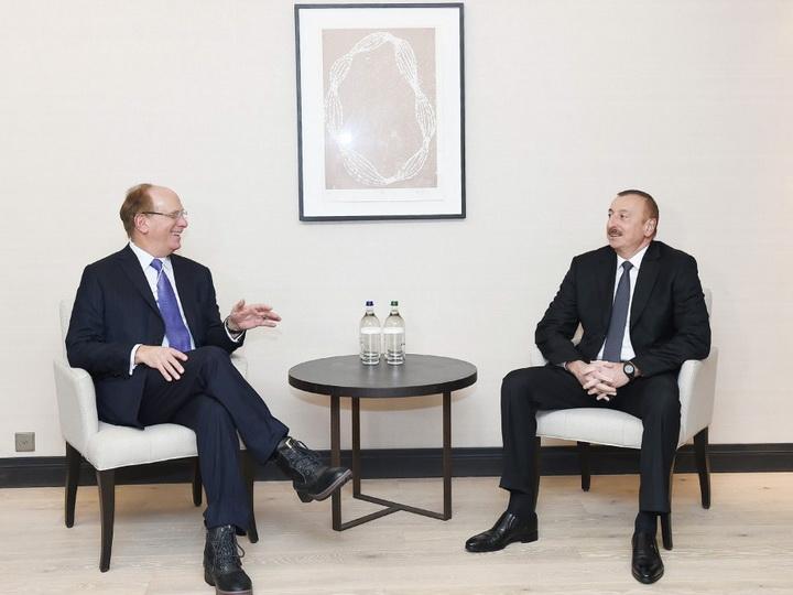 Президент Ильхам Алиев встретился с основателем фирмы Black Rock - ФОТО
